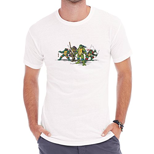 Amazing Teenage Mutant Turtles Skech Herren T-Shirt Weiß