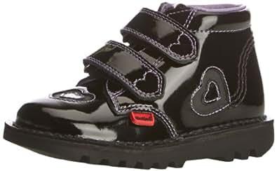Kickers Girls Kick Sparkle Boots 112858 Black 8 UK Child, 25 EU