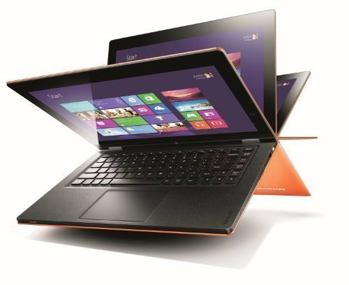 Lenovo IdeaPad Yoga 13-inch Convertible Ultrabook (Orange) - (Intel Core i7 3537U 2.0GHz Processor, 8GB RAM, 256GB SSD, WLAN, BT, Webcam, Integrated Graphics, Windows 8)
