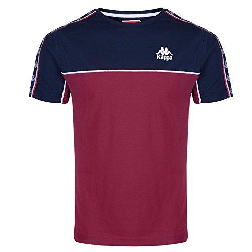 kappa-mens-dunlin-short-sleeve-t-shirt-red-small