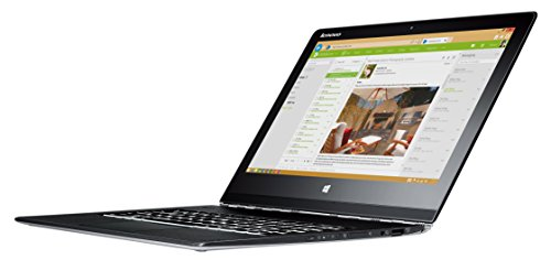 Lenovo Yoga 3 Pro 33,8 cm (13,3 Zoll QHD+ IPS) Convertible Ultrabook (Intel Core M-5Y71, 8GB RAM, 512GB SSD, Intel HD Grafik 5300, Touchscreen, Windows 10) silber