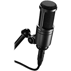 Audio-Technica AT2020 Microphone Cardioïde à électret, Noir