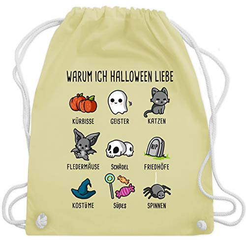 Halloween - Warum ich Halloween liebe - Unisize - Pastell Gelb - WM110 - Turnbeutel & Gym ()