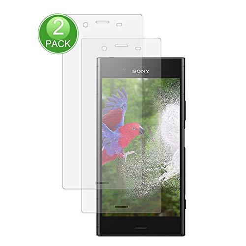 X-Dision Displayschutzfolie,kompatibel mit Sony Xperia XZ1 Compact,[2 Stück] Premium-Schutzfolie der 2.5D Double Defense-Serie,Schutzhülle aus 9H-Hartglas,[Anti-Fingerprint und Anti-Scratch]