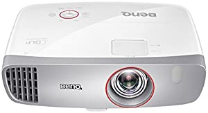 BenQ W1210ST Kurzdistanz Gaming DLP-Projektor (3D Full HD Beamer, 1920x1080 Pixel, Kontrast 15.000:1, 2.200 ANSI Lumen, HDMI/MHL, Lautsprecher) weiß