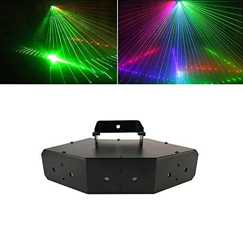 chtung, LED Disco Lichter Sound aktiviert Bühnenbeleuchtung 50W RGBW DMX 512 mit Fernbedienung für Indoor Home Parties -614 ()
