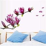 HhGold Die kreative Fernseher Sofa Wand Restaurant Schlafzimmer Bett Hintergrund Dekoration Wall Sticker Jade Orchidee, 50 * 70 cm