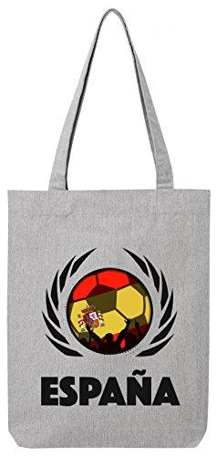 Espana Spain World Cup WM Fan Bio Baumwoll Tote Bag Jutebeutel Stanley Stella Fußball Spanien Heather Grey
