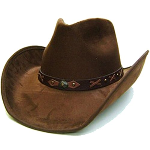 modestone-unisex-felt-feel-wide-brim-cappello-cowboy-brown
