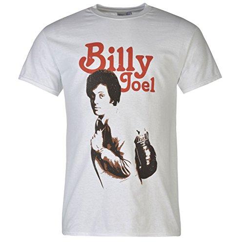 Billy Körper (Official Billy Joel Herren T Shirt Kurzarm Rundhals Print Tee Top Freizeit Natural Adult Large)