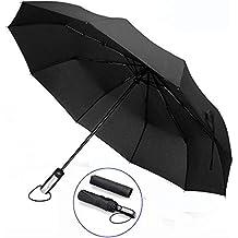 Paraguas Plegable Abrir y Cerrar Automático Paraguas de Viaje Portátil Grande Antiviento Paraguas Compacto Recubrimiento de