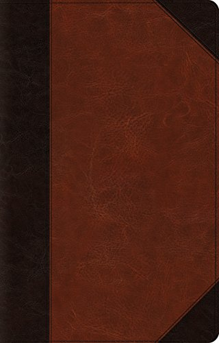 ESV Large Print Thinline Reference Bible (Trutone, Brown/Cordovan, Portfolio Design)