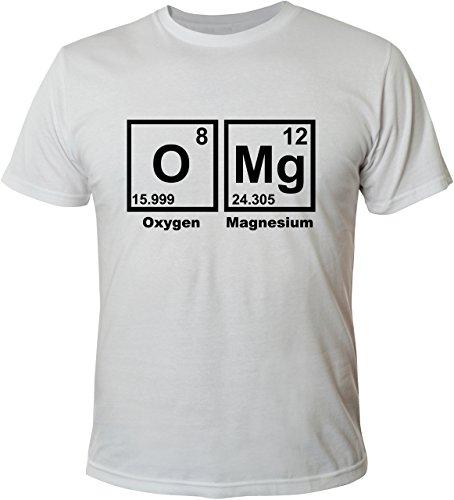 Mister Merchandise Cooles Herren T-Shirt OMG OMG! Nerd Chemie Periodentafel Weiß