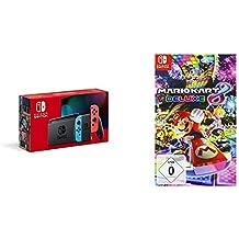Nintendo Switch Konsole - Neon-Rot/Neon-Blau (neue Edition) + Mario Kart 8 Deluxe [Nintendo Switch]