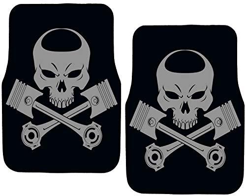 Rebel On Wheels Auto Fußmatten Set Skull Edition Punisher with Piston (Ram Truck Dodge Zubehör)