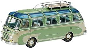 Schuco 02827 Classic 1:43 - Setra S6 autobús, Verde-Gris