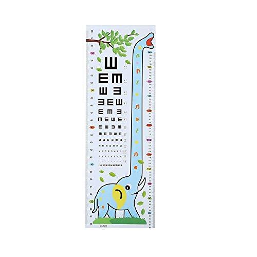 Hoch Tabelle (Kicode Kinder Baby Sehtest Höhe Tabelle Abziehbilder Startseite Messlineal Wandaufkleber DIY entfernbarer Karikatur PVC)