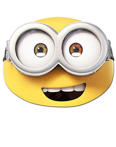 Bob Kinder Minion Kostüm - empireposter Minions - Bob Maske - hochwertiger Glanzkarton mit Augenlöchern