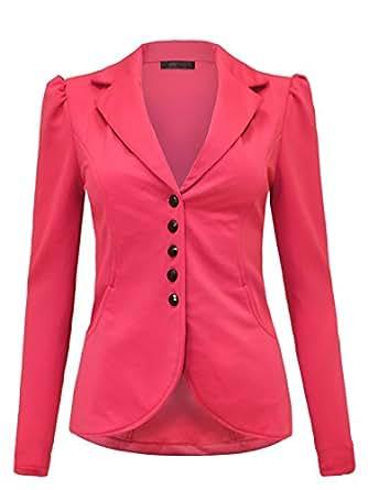 Envy Boutique - Manteau - Blazer - Manches Longues - Femme M -  rose - 44