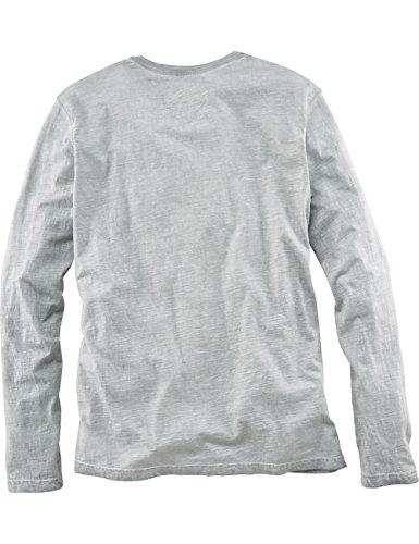 ROADSIGN australia Longsleeve Henley-Shirt Clare Valley Grau