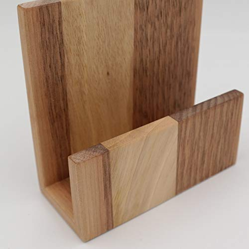 Breit Nussbaum (Aufsteller Flyerhalter aus heimischem Nussbaum, geölt, 10 cm breit)