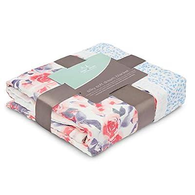 aden + anais manta de sueño Watercolour Garden-rosas