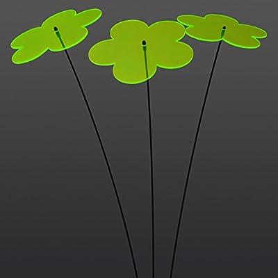 """SUNPLAY """"Sonnenfänger Blumen"""" in GRÜN, 3 Stück je 20 cm Durchmesser im Set + 70 cm Schwingstäbe von SUNPLAY auf Du und dein Garten"""