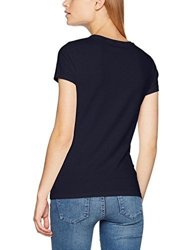 GANT Damen Stretch T-Shirt Blau (Evening Blue)