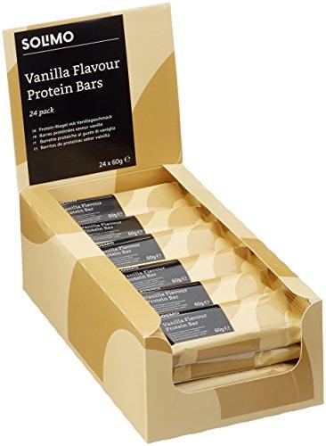 Marque Amazon - Solimo Barres protéinées goût vanille-chocolat (24 barres)