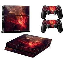 Ps4 Playstation 4 Consola Design Foils Sticker Decal Pegatinas + 2 Controlador Skins Set (Red Universe)