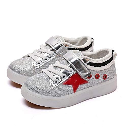 ZJEXJJ Kinderschuhe, süße Kinder leuchtende Turnschuhe Baby süße lässige Bequeme Schuhe Trainer Heiligabend Weihnachten (Farbe : Rot, größe : 30)