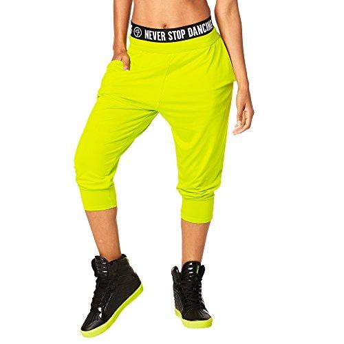 Dance Team-t-shirts (Zumba Fitness Damen Team Zumba Harem Dance Pants Frauenhosen, Zumba Green, S)