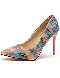Zapatos De Tacón De Aguja De Punta Estrecha Zapatos Sencillos Zapatos De  Corte De Fiesta Zapatos 5a0113a7aacb