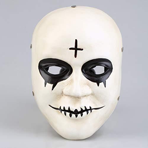 Halloween Dekorationen Die Säuberung Maske Terror Film Menschlichen Klar Plan Gott Kreuz Vollgesichts Harz Masken Halloween Maskerade Party Cosplay Halloween Kostüme Requisiten Halloween Decor