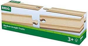 Brio  - 33335 -  Circuit de train en bois  -  Droites moyennes