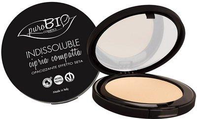 PUROBIO - Poudre Compacte - Effet anti-âge Matifie le teint - Couleur 04 - Vegan, Certifié Bio, Nickel Tested, Fabrique in Italie