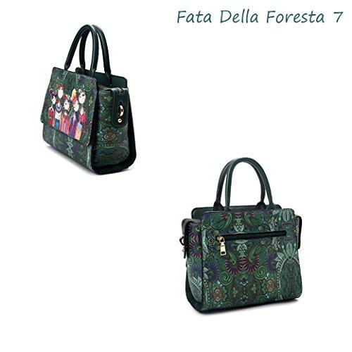 Yaer Fata Della Foresta Ragazze Ms. Borsa a Tracolla Borsetta Zaino Moda Elegante Modello Stile 7 Fata Della Foresta 7