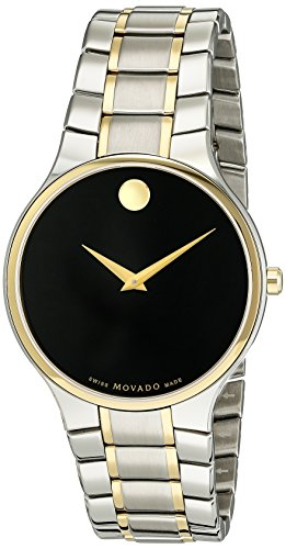 MOVADO MEN'S 38MM TWO TONE STEEL BRACELET SWISS QUARTZ ANALOG WATCH 0606901