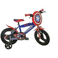 "Dino Bikes Captain America Infantil Unisex Ciudad Metal Azul, Rojo bicicletta - Bicicleta (Plegado, Ciudad, Metal, Azul, Rojo, 35,6 cm (14""), Cadena)"