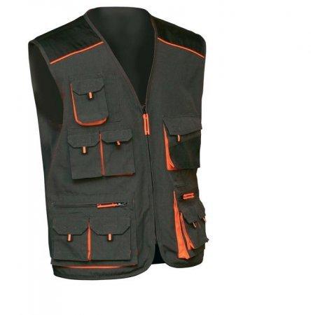 EMERTON Weste Arbeitsweste schwarz/orange 52