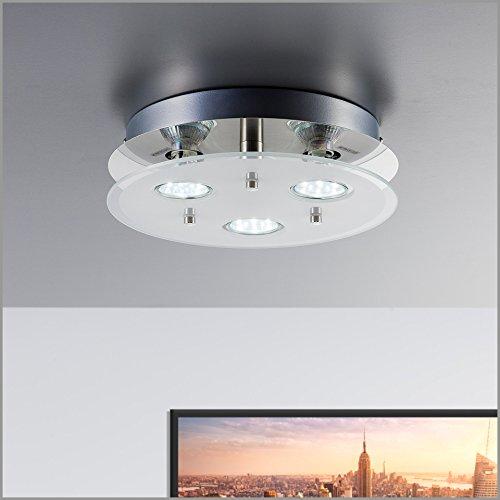 Led deckenleuchte inkl 3 x 3w leuchtmittel 230v gu10 ip20 for Wohnzimmerleuchte led