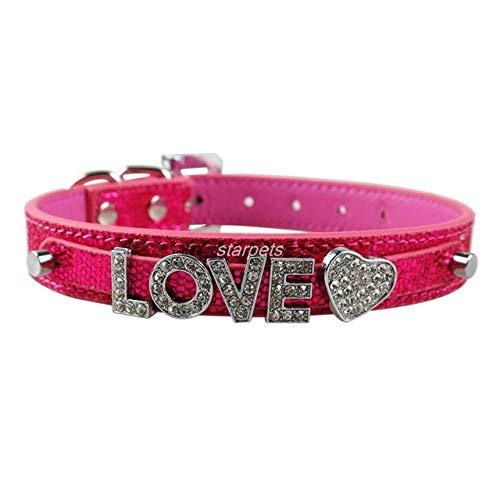 Bling Personalizzato Pet Dog Collarrhinestone Personalizzato Nome Libero Diamond Bucklet XS S M L m Rosa