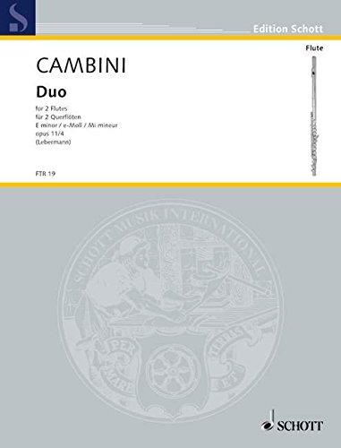 Duo e-Moll: op. 11/4. 2 Flöten. Spielpartitur. (Edition Schott)