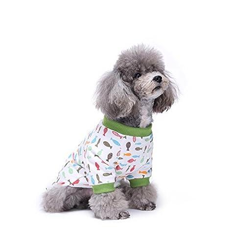 Animaux Chien/Chiot/Chihuahua Pyjama avec le motif mignon de cerise et Quatre pieds Conception pour les Moyennes et Petits Chiens LNAG , xl