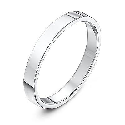 Theia Palladium 950, Super Heavy Weight, Flat Court Shape 6mm Wedding Ring