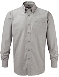 Russell collection! facile oxford chemise à manches longues en matelas grande taille