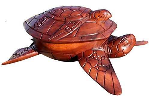 Schöne Schildi Holzschale mit Deckel Deko Holz Schildkröte Handarbeit Schale 06