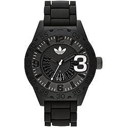 Adidas ADH2963 NEWBURGH Uhr Herrenuhr Kautschuk Kunststoff 100m Analog Datum schwarz