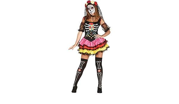 Adulti Da Donna Messicana Giorno Dei Morti SENORITA Costume Maschera /& Velo Accessorio