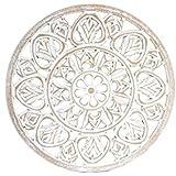 DonRegaloWeb - Mandala de madera para pared en color blanco decapé